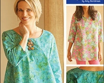 Gathered Back Top and Tunic IJ1110 by Indygo Junction - pattern