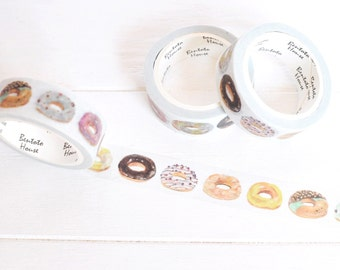 Donut Washi Tape. 15mm x 7m. Doughnut Washi Tape. DIY Donut Invitation. Fun Washi Tape. Food Washi Tape. Colorful Donuts. Donut Planner