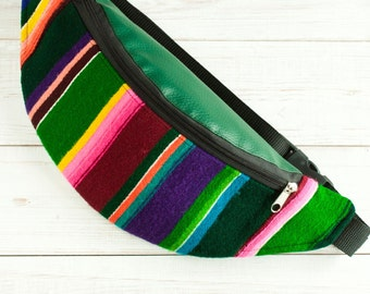 Hip sack – polish folk striped fabric (pasiak łowicki)
