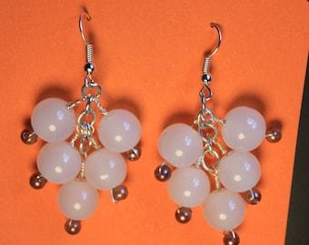 Handmade Gathering grape earrings