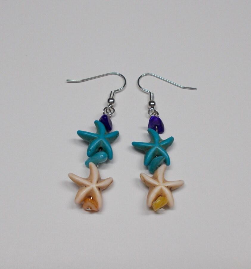 starfish earrings color starfish starfish starfish jewelry