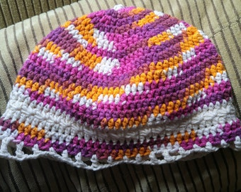 Woman's Star Stitched Stripe Beanie