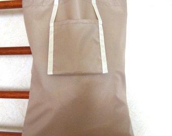 Shopping bag, Ruseable bag, Folding bag, Market Bag, Beige bag, Eco friendly