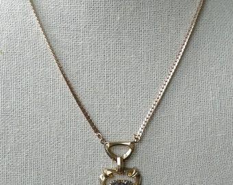 Purple Heart Vintage Necklace