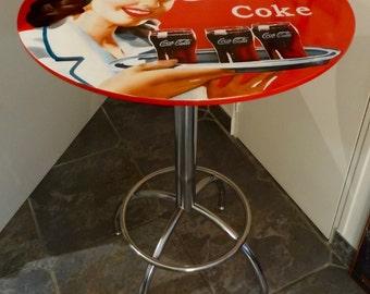 High bar table pub customized coca cola year 50