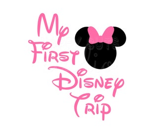 My First Disney Trip / Minnie Mickey Disney Baby 1st Vacation World Personalized Matching Family Cruise Iron On Decal Vinyl for Shirt 001