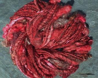 Handspun wool art yarn - Purple Fantasy