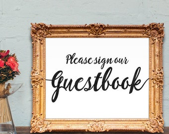 Please sign our guestbook sign - PRINTABLE - 8x10 - 5x7
