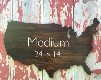 Usa Wooden Wall Decor Wooden Map Wall Art 24 X14 Stained Us