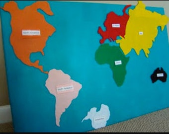 Felt World Map