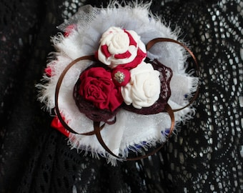 Handmade jewelry Brooch in the Boho style Stylish decoration for a gentle woman