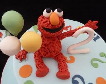 Edible Sesame Street Elmo Cake Topper