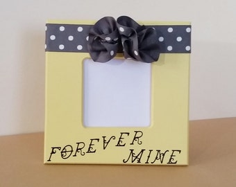 8 x 8 picture frame, yellow picture frame, 3 x 3 picture frame, 4 x 6 picture frame, flower picture frame, custom picture frame forever mine