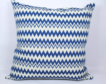 Blue white geometric pillow covers beautiful decorative handmade cushion 18x18 pillow cover outdoor pillow cases summer throw pillows