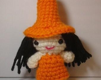 Crochet doll, amigurumi doll, Halloween