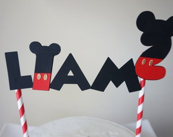 Mickey Mouse inspired cake topper