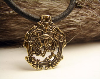 Borre style, Viking Pendant, Birka, Nordic, Zoomorphic, Replica, Nordic Pendant, zoomorphic jewelry, medieval jewelry, asatru jewelry