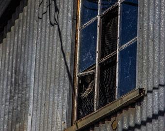 Rustic Metal Dilapidated Window