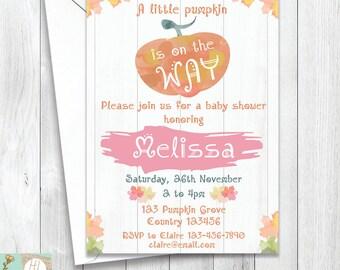 pumpkin baby shower invitation pumpkin evite pumpkin party halloween party printable card - Evite Halloween Party