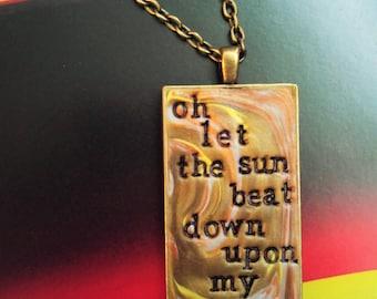 Kashmir Led Zeppelin Pendant Necklace
