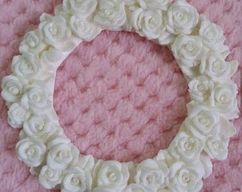 Rose wreath embellishment/shabby chic/furniture applique
