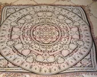 German rarity vintage very beautiful tablecloth tapestry handmade.Ovet 50 years old !!!