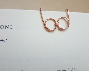 Harry Potter Glasses Bookmark, Harry Potter Fan Art, Handmade Copper Bookmark, Harry Potter Glasses, Bookmark, Nerdy Gift, Bookworm Gift