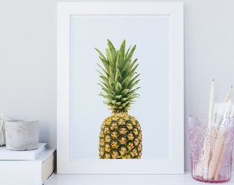 Pineapple wall art, Pineapple art print, Scandinavian print, Minimalist, fruit print, botanical print, printable wall art, office, nursery