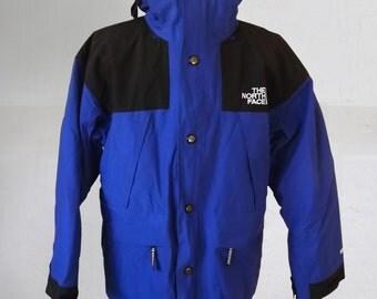 Vintage 90s THE NORTH FACE men's 3-in-1  Gore-Tex   winter ski   jacket coat Blue Black Size M