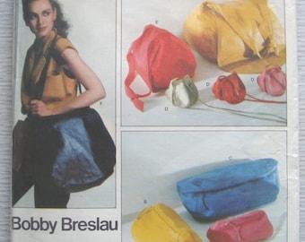 vintage VOGUE American Designer Booby Breslau BAGS sewing pattern 2184