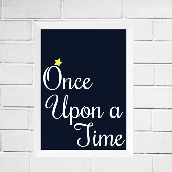 once upon a time wall art nursery home decor giclee