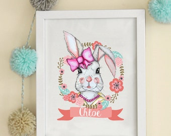 Digital Print Illustration Bunny