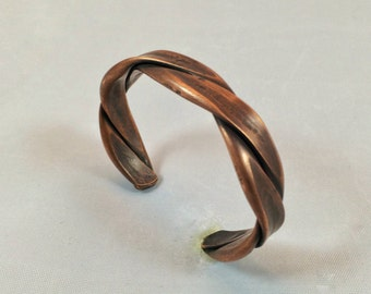 Men's heavy copper cuff