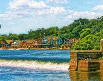 Boathouse Row, Philadelphia, Landmark, Urban Art, Cityscape, Fine Art Print, Philadelphia Decor, Schuylkill River