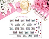 Printed Sticker Sheet - Life and Ministry - Midweek Meeting and Digging for Spiritual Gems Reminder Sticker Pack - Style 065
