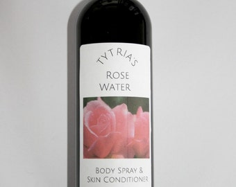 Rosewater Skin Conditioner 8oz - Room & Body Spray - All Natural Homemade with Rose Absolute Infused Jojoba Oil