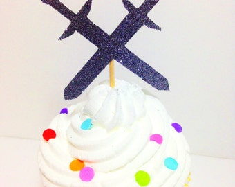 Sword Cupcake Toppers