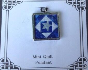 Mini Quilt Pendant