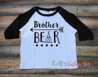 Big Brother Shirt - Brother Bear Raglan Shirt - Big Brother - Sibling Shirt - Boys Raglan Shirt - Bigger Brother Shirt - Brother Bear Shirt