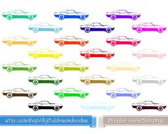 Car Clipart, Camaro Vehicle Clip Art, Camaro Image, Camaro Graphic, Camaro Picture, Camaro Scrapbook, Classic Car Clipart, Digital Download