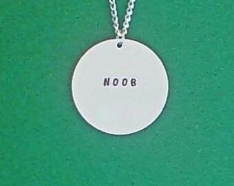 necklace- gamer necklace- noob- geek necklace- geek- gamer