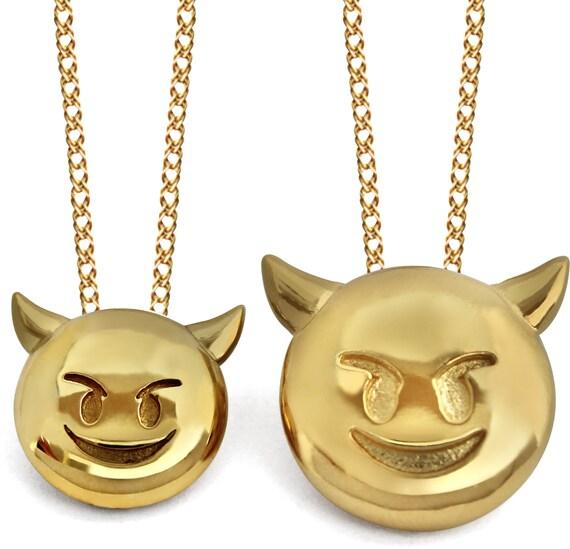 Devil Emoji Devil Emoji Jewelry Devil Emoji Necklace Emoji