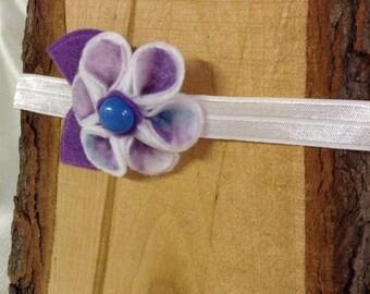 Purple Daisy Headband