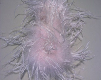Ostrich Feather Poof Fascinator