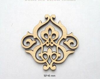 Cute Laser cut wood ornamental detail / Wood shapes / Wood ornaments / Wood charms / Laser cut wood / Ornaments /Laser engraved /Wood crafts