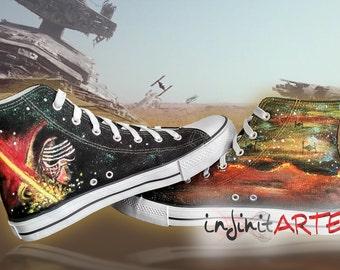 Star Wars VII shoes. Custom handpainted shoes.