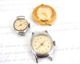 Vintage Watch Faces - Parts or Repair - Watch Parts - Watches