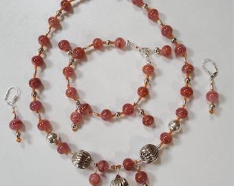 Swirled Glass Jewelry Set