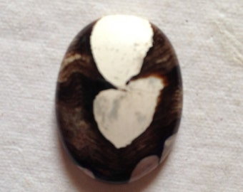 Peanut wood jasper 21 caratoval shape 26x20 mm gemstone cabochon: GJ0202