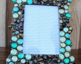 5x7 TurquoiseGem Mix and River Rock Picture Frame